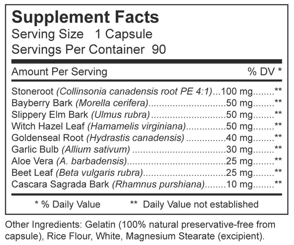 Dynamic Nutritional Associates (DNA Labs) Hemex Supplement Facts