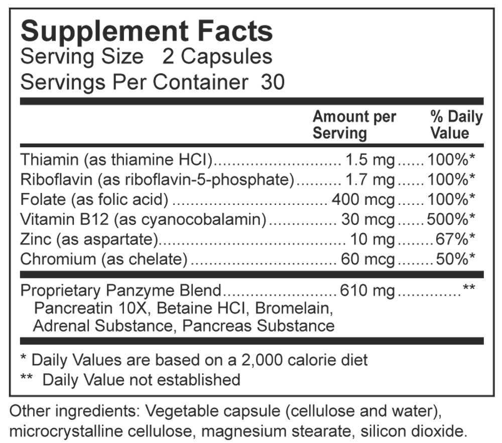 Dynamic Nutritional Associates (DNA Labs) Nutri Min 72 Supplement Facts