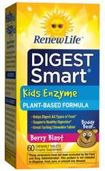 Naturally Botanicals | ReNew Life | Digest Smart Kids Enzyme (Formerly Buddy Bear Digest)