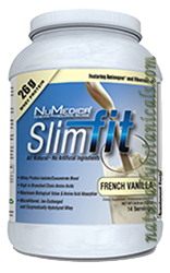 Naturally Botanicals | NuMedica Nutraceuticals | SlimFit-French Vanilla - 14 servings | Whey Protein Amino Acid Powder Blend