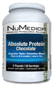 Naturally Botanicals | NuMedica Nutraceuticals | Absolute Protein-Chocolate- 39 servings