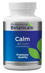 Naturally Botanicals | Professional Botanicals | Calm Atten | Brain and Focus Support Supplement