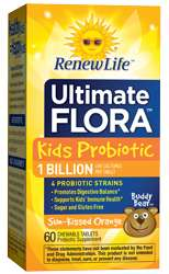 Naturally Botanicals | ReNew Life | Ultimate Flora Kids Probiotic 1 Billion (Formerly Buddy Bear Probiotic) | Daily children's chewable probiotic supplement