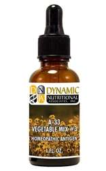 Naturally Botanicals | by Dynamic Nutritional Associates (DNA Labs) | A-33 Vegetable Mix #3 Homeopathic