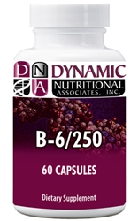 Naturally Botanicals | Dynamic Nutritional Associates (DNA Labs) | B-6 / 250 Sustained Release  | Vitamin B6 Supplement