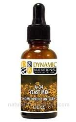 Naturally Botanicals | by Dynamic Nutritional Associates (DNA Labs) | A-34 Yeast Mix Homeopathic