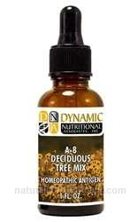 Naturally Botanicals | by Dynamic Nutritional Associates (DNA Labs) | A-8 Deciduous Tree Mix Homeopathic