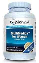 Naturally Botanicals | NuMedica Nutraceuticals | MultiMedica for Women - 120c | Women's Multivitamin Supplement