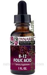 Naturally Botanicals | Dynamic Nutritional Associates (DNA Labs) | B-12 Folic Acid | Essential B12 Liquid Supplement
