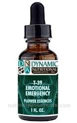 Naturally Botanicals | by Dynamic Nutritional Associates (DNA Labs) | T-39 EMOTIONAL EMERGENCY Flower Essences Homeopathic Formula