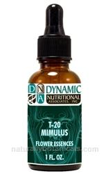 Naturally Botanicals | by Dynamic Nutritional Associates (DNA Labs) | T-20 MIMULUS 6x, 8x, 30x Flower Essences Homeopathic Formula
