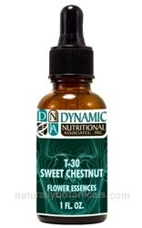 Naturally Botanicals | by Dynamic Nutritional Associates (DNA Labs) | T-30 SWEET CHESTNUT 6x, 8x, 30x Flower Essences Homeopathic Formula