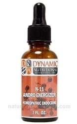 Naturally Botanicals | by Dynamic Nutritional Associates (DNA Labs) | N-11 Andro Energizer  | Homeopathic Endocrine Formula