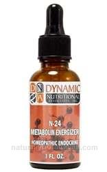 Naturally Botanicals | by Dynamic Nutritional Associates (DNA Labs) | N-24 Metabolin  | Homeopathic Endocrine Formula