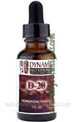 Naturally Botanicals | by Dynamic Nutritional Associates (DNA Labs) | D-20 Gy Glandin Homeopathic Formula