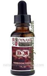 Naturally Botanicals | by Dynamic Nutritional Associates (DNA Labs) | D-28 Dysmenor West German Homeopathic Formula
