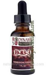 Naturally Botanicals | by Dynamic Nutritional Associates (DNA Labs) | D-83-3 Candida Albicans Homeopathic Formula