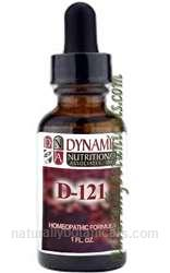 Naturally Botanicals |  Dynamic Nutritional Associates (DNA Labs) D-121 Calc. Fluor. West German Homeopathic Formula