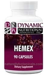 Naturally Botanicals | Dynamic Nutritional Associates (DNA Labs) | Hemex | Hemorrhoid & Venous Support Supplement