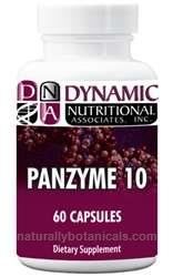 Naturally Botanicals | Dynamic Nutritional Associates (DNA Labs) | Pan Zyme 10 | Pancreatin Enzyme Supplement Supporting Digestive & Systemic Health